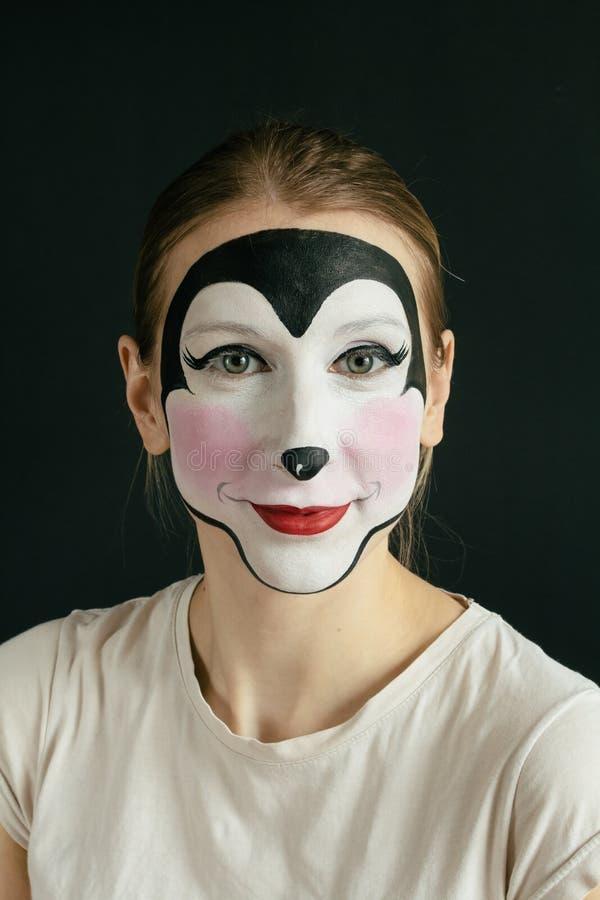 Peinture de visage de souris images stock