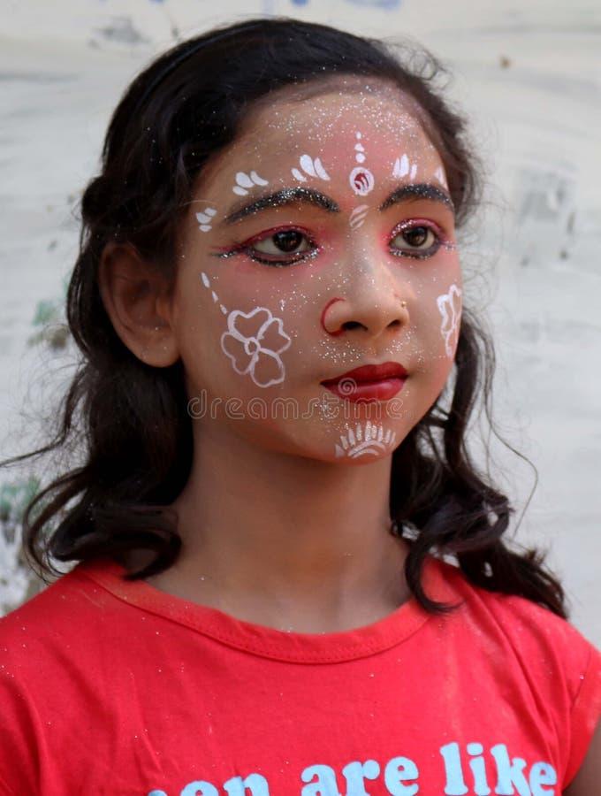 Peinture de visage et x28 ; RADHA et x29 ; images libres de droits