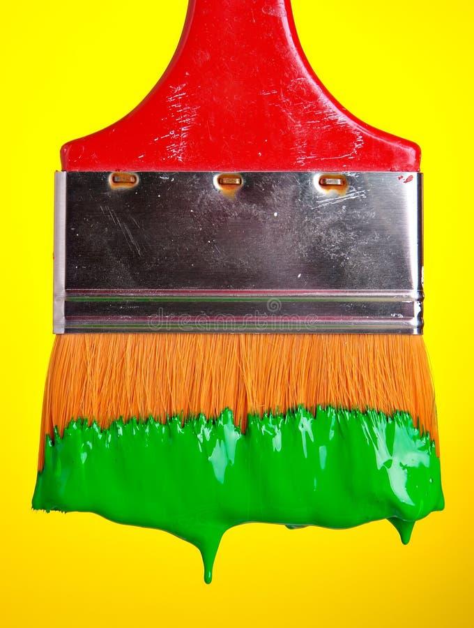 Peinture en vert photo stock
