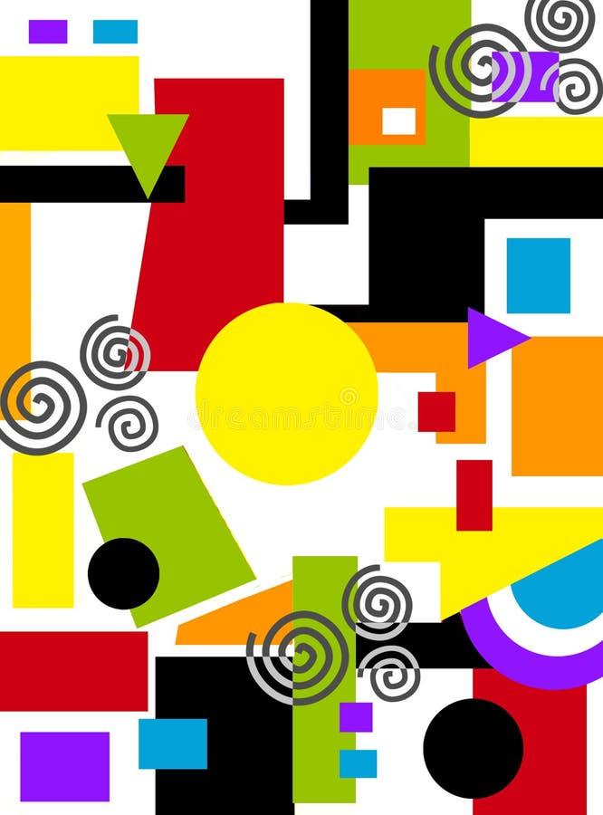 Peinture géométrique abstraite illustration libre de droits