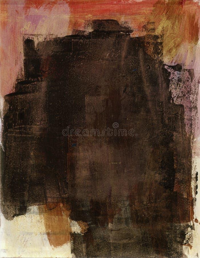 Peinture grise abstraite illustration de vecteur