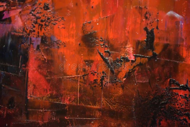Peinture grunge sur le fond en métal photo stock