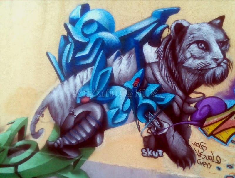 Peinture impressionnante d'un animal illustration stock