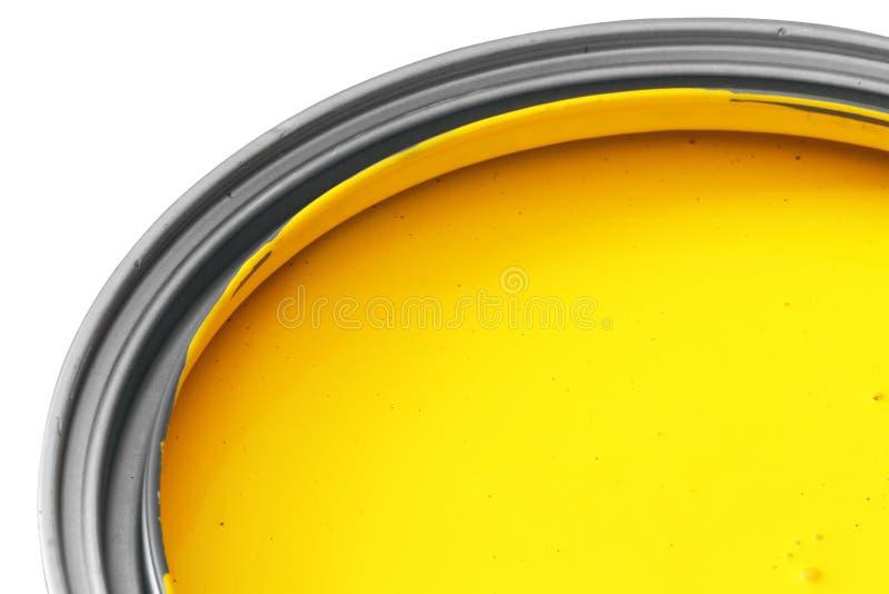 Peinture jaune images libres de droits