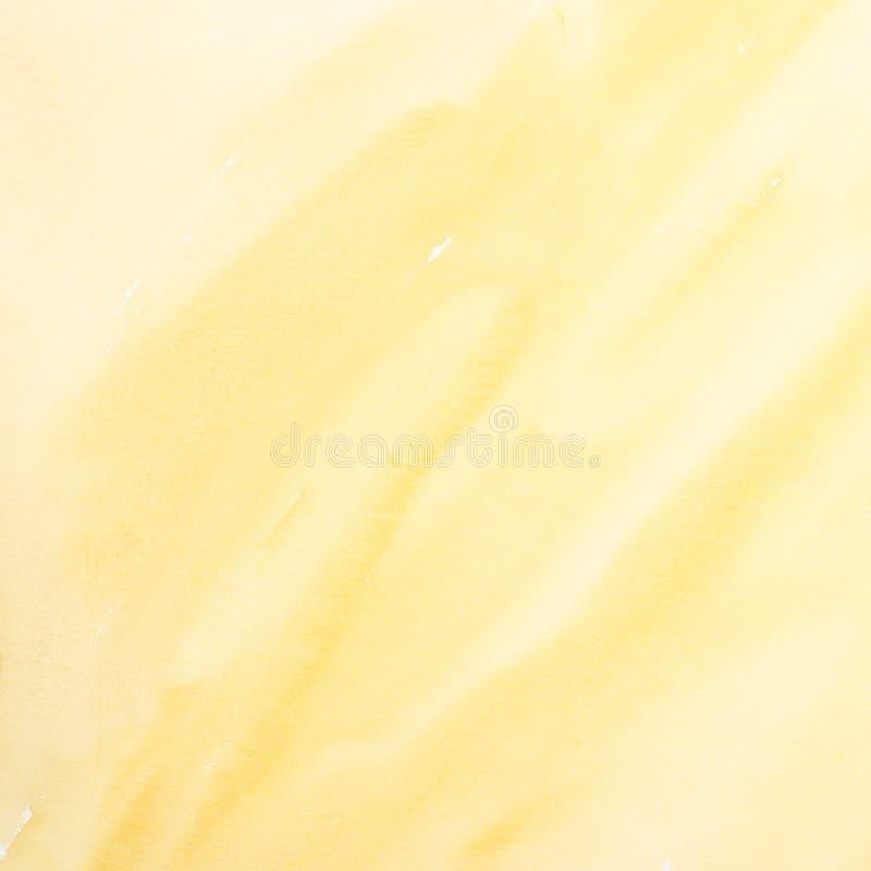 Peinture jaune d'aquarelle image stock