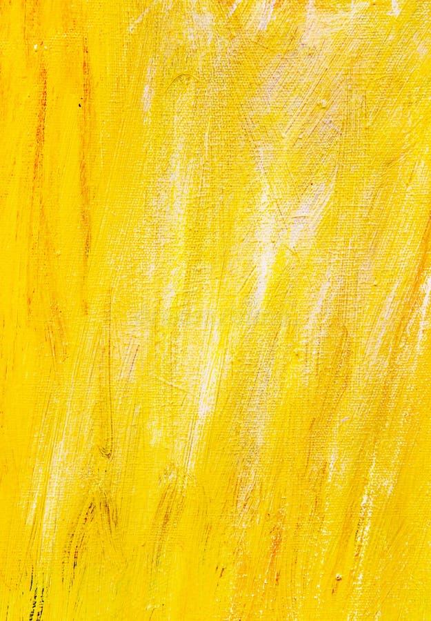 Peinture jaune de texture de fond image stock