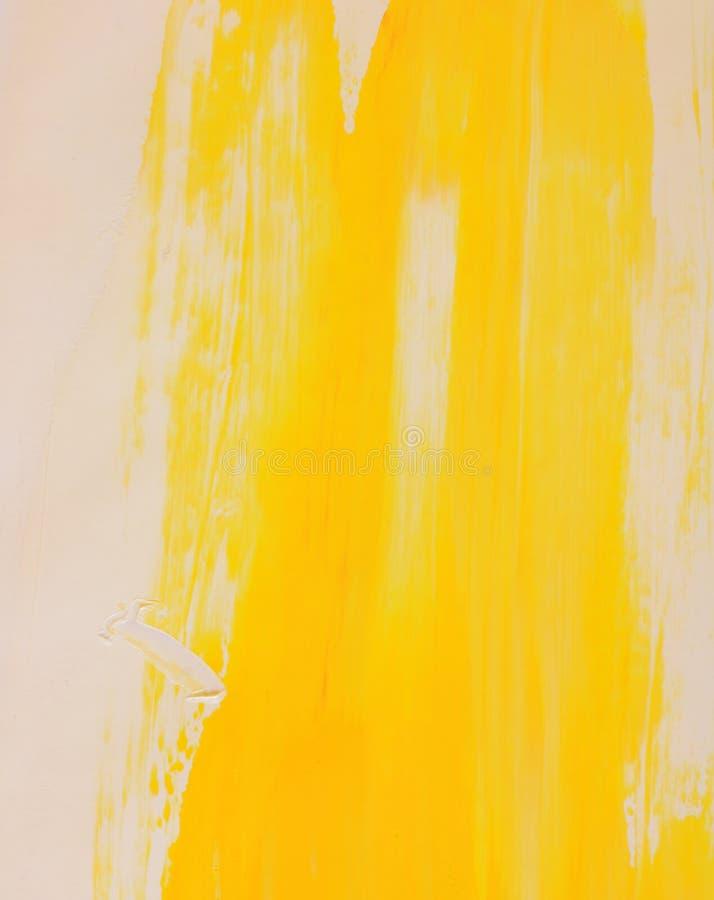 Peinture Jaune Sur Le Mur Photo Stock Image Du Effet