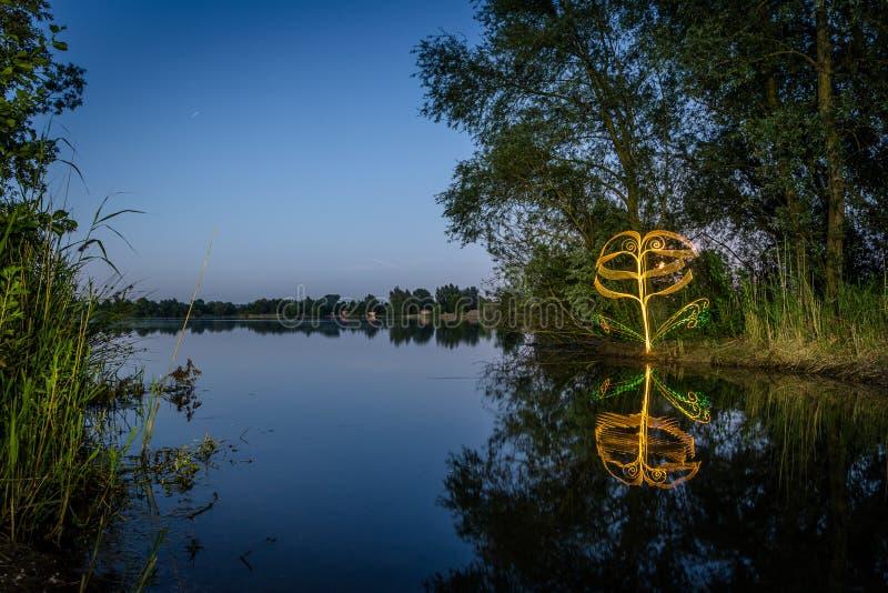 Peinture légère sur le lac photo libre de droits