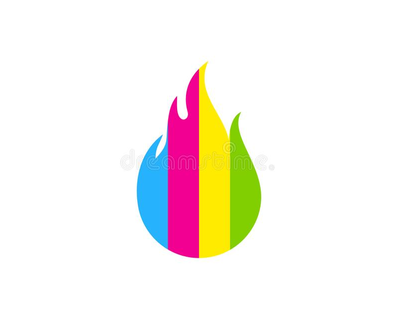 Peinture Logo Icon Design de brûlure illustration stock