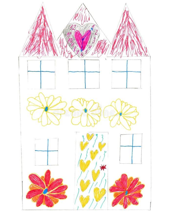 peinture magique s de maison d'enfants illustration stock