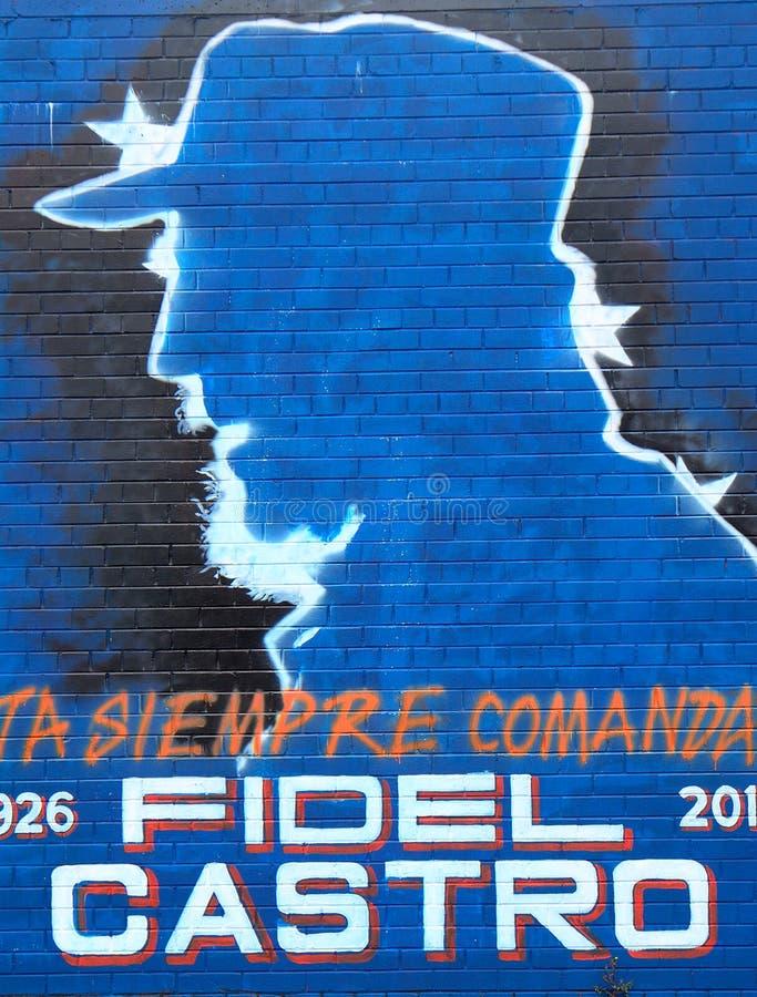 Peinture Murale Avec Fidel Castro Belfast Irlande Du Nord