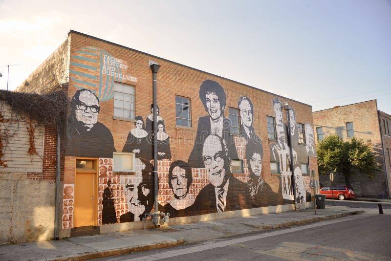 Peinture murale d'activiste de droits civiques, Memphis, Tennessee photos stock