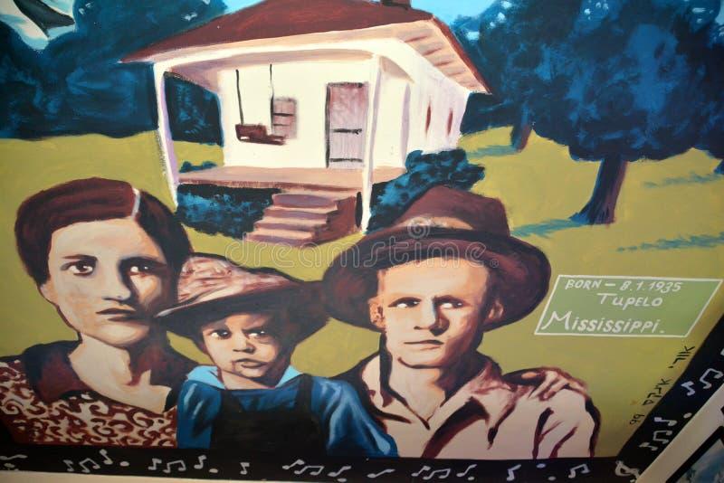 Peinture murale d'Elvis photo libre de droits