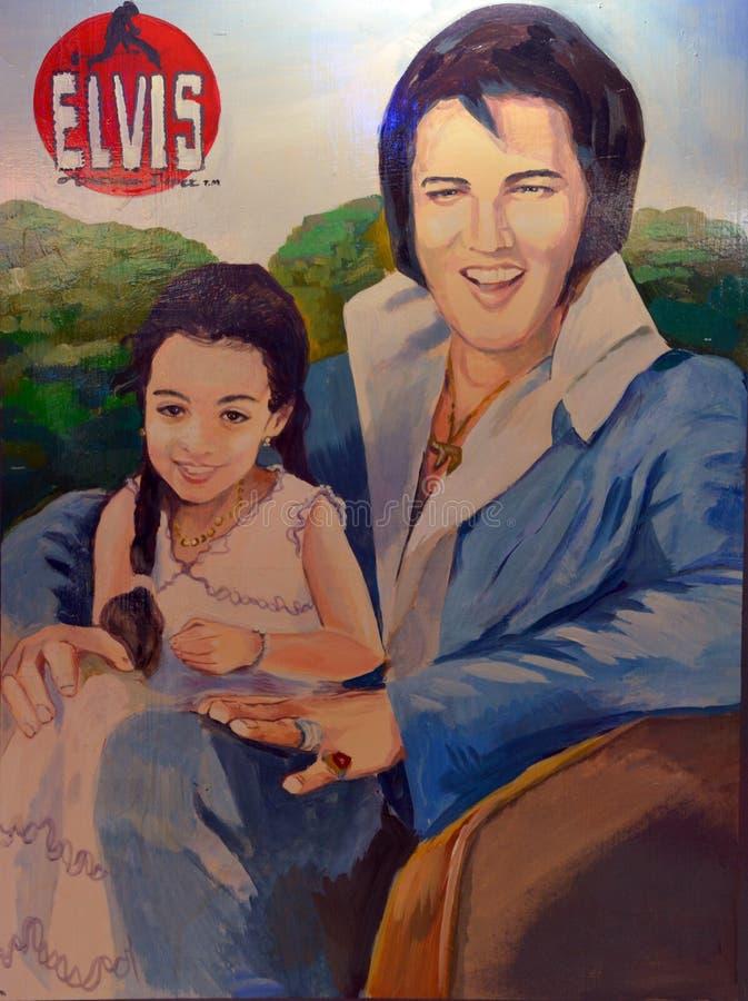 Peinture murale d'Elvis photographie stock