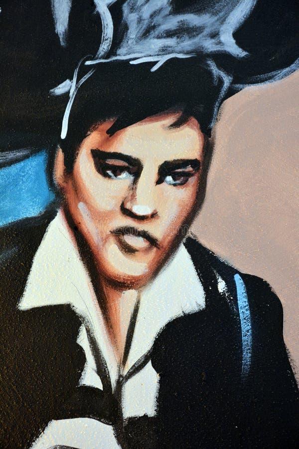 Peinture murale d'Elvis image libre de droits