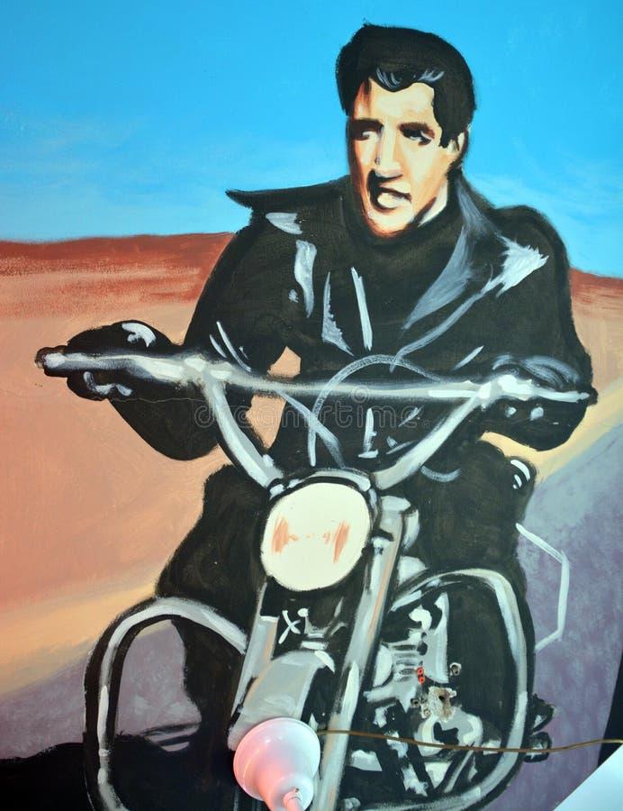 Peinture murale d'Elvis photos libres de droits