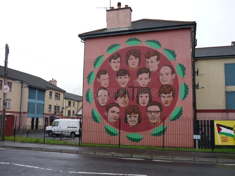 Peinture murale dans Derry images stock
