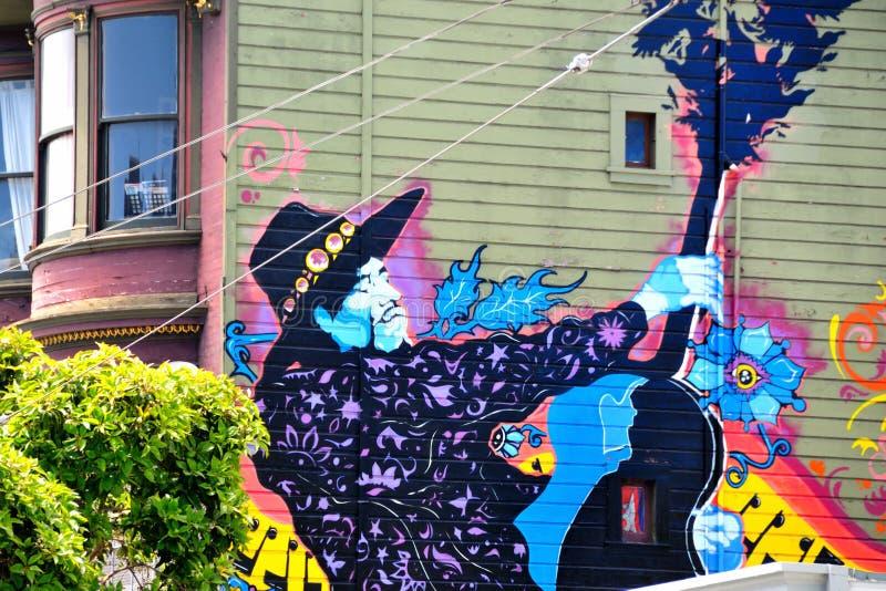 Peinture murale dans Haight Hasbury à San Francisco photos stock