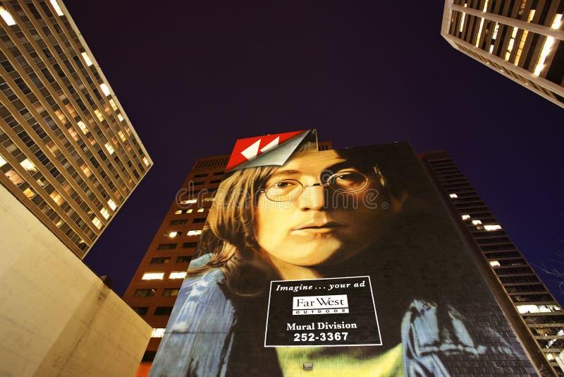 Peinture murale de John Lennon images stock