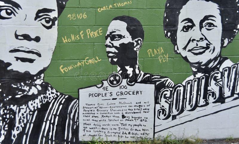 Peinture murale de l'?picerie des personnes, Memphis, TN photo stock