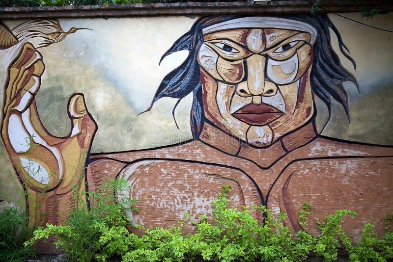 Peinture murale de mamie d'EL dans Corrientes, Argentine images libres de droits
