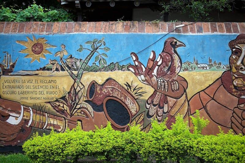 Peinture murale de mamie d'EL dans Corrientes, Argentine image stock