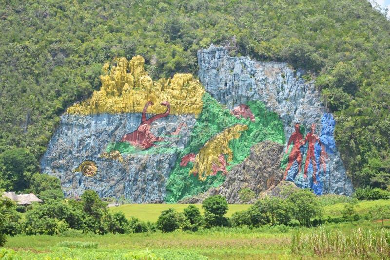 Peinture murale du Cuba de préhistoire image libre de droits