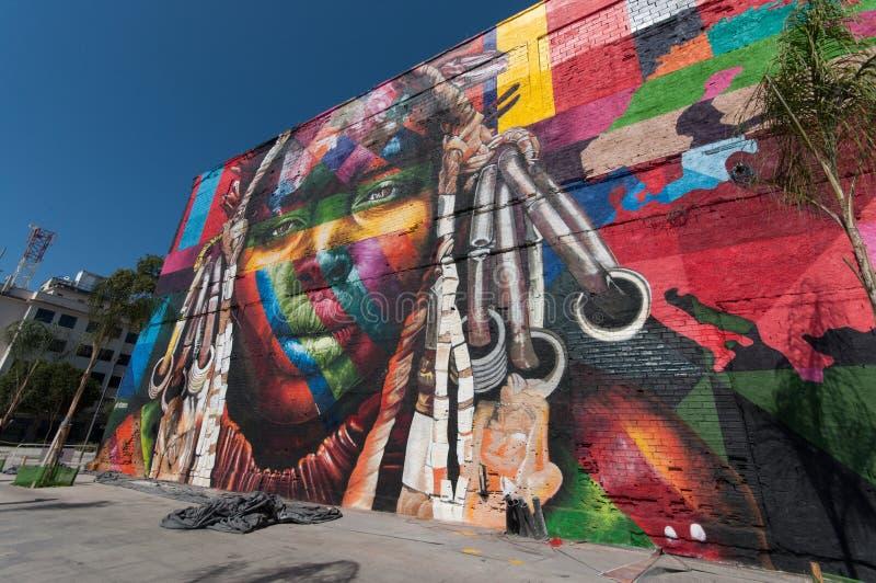 Peinture murale en rio de janeiro photo ditorial image for Nouvelle peinture murale