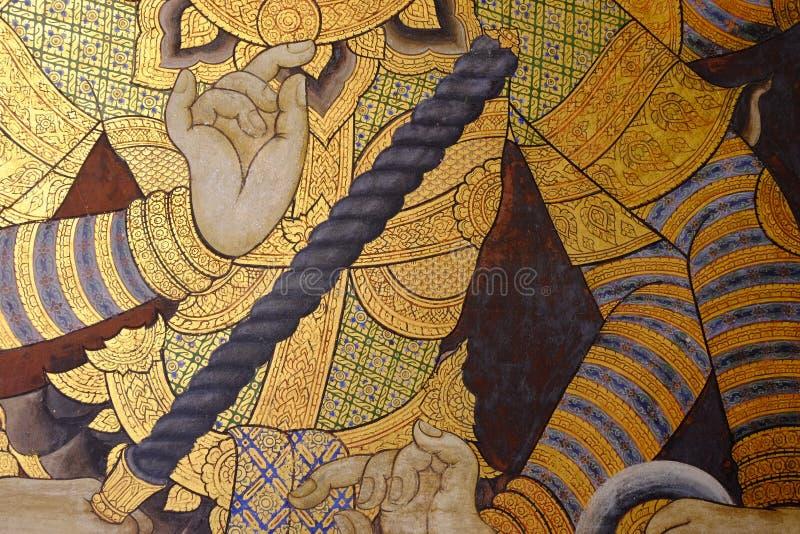 Peinture murale sur le mur image stock