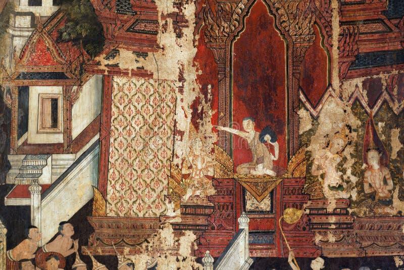 Peinture murale sur les murs photographie stock libre de droits