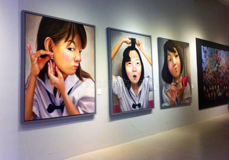Peinture murale thaïe image stock