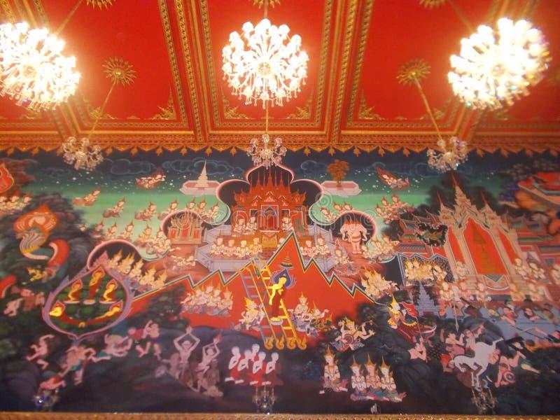 Peinture murale - Thaïlande photo stock