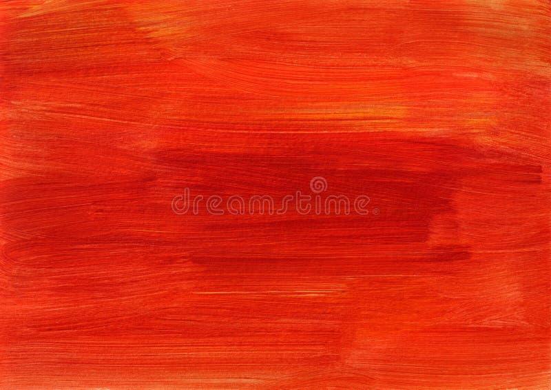 Peinture orange rouge abstraite de fond photographie stock