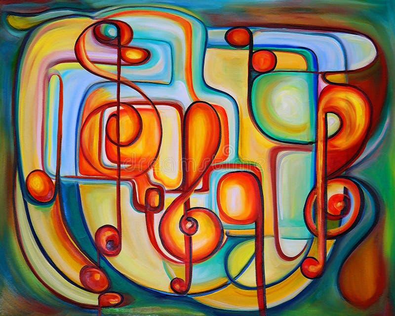 Peinture organique colorée illustration stock