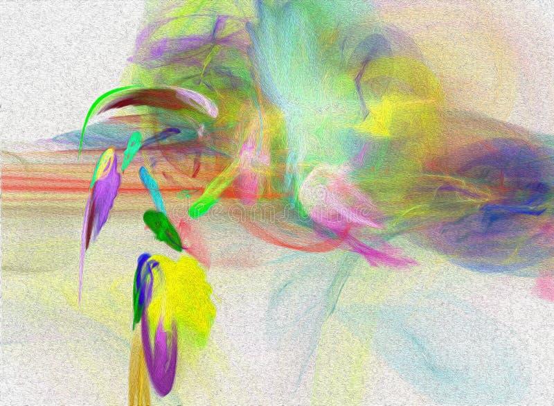 Peinture originale d'aquarelle d'art de fond abstrait photo stock