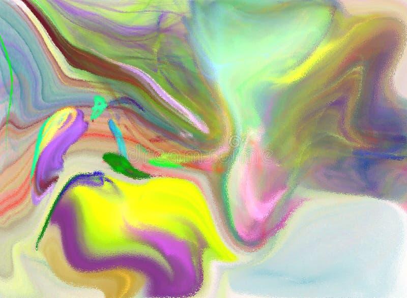 Peinture originale d'aquarelle d'art de fond abstrait photographie stock libre de droits