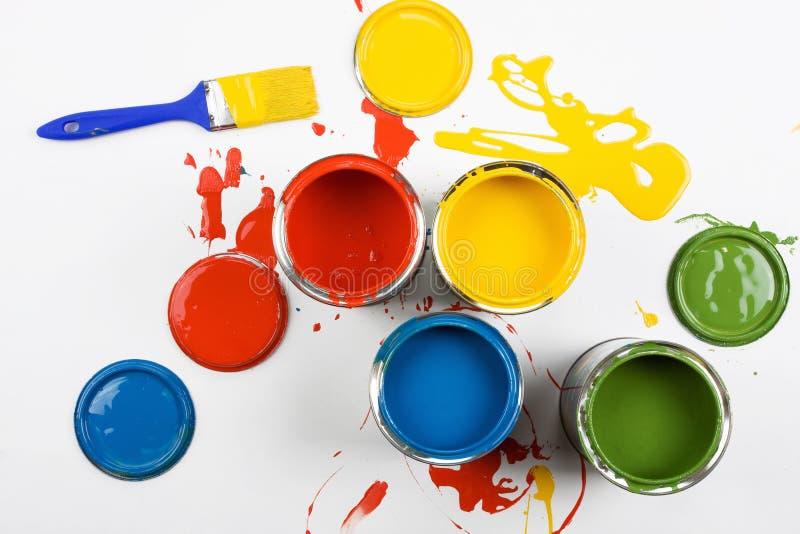 peinture ouverte par couleurs de positions photographie stock libre de droits