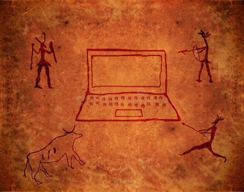 Peinture préhistorique illustration de vecteur
