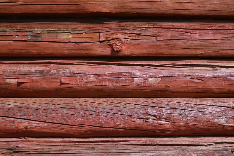 Peinture protectrice traitée de bois de construction photo libre de droits