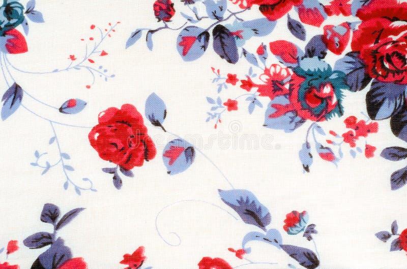 Peinture rose de vintage sur le fond de tissu image stock