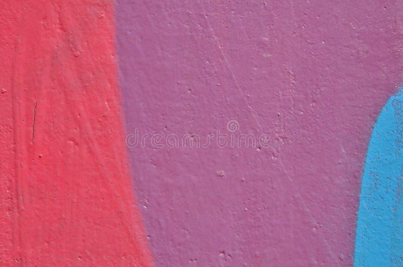 Peinture rose, violette et bleue images stock