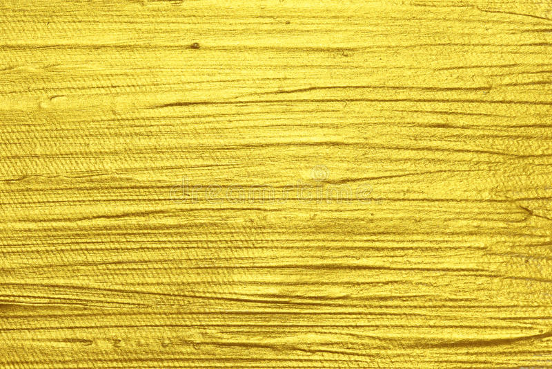 Peinture texturisée acrylique d'or photo libre de droits