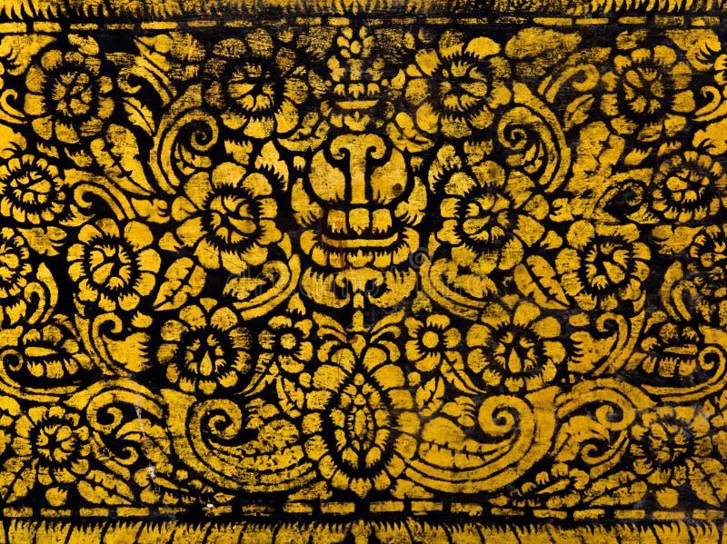 Peinture thaïe antique de type photographie stock