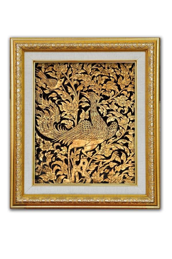 Peinture thaïe de tradition images stock