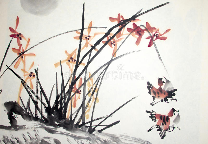 Peinture traditionnelle chinoise photo libre de droits