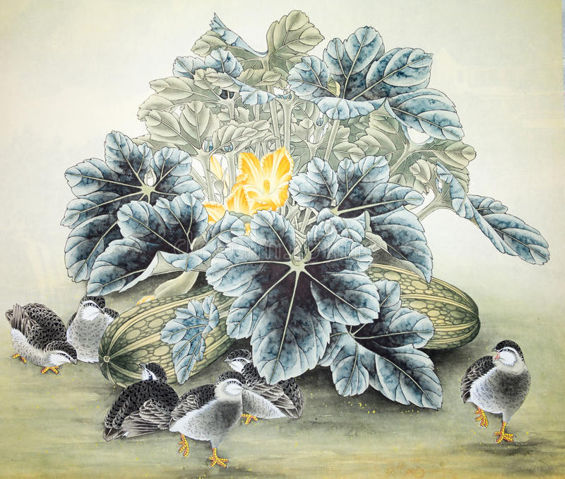 Peinture traditionnelle chinoise photos libres de droits