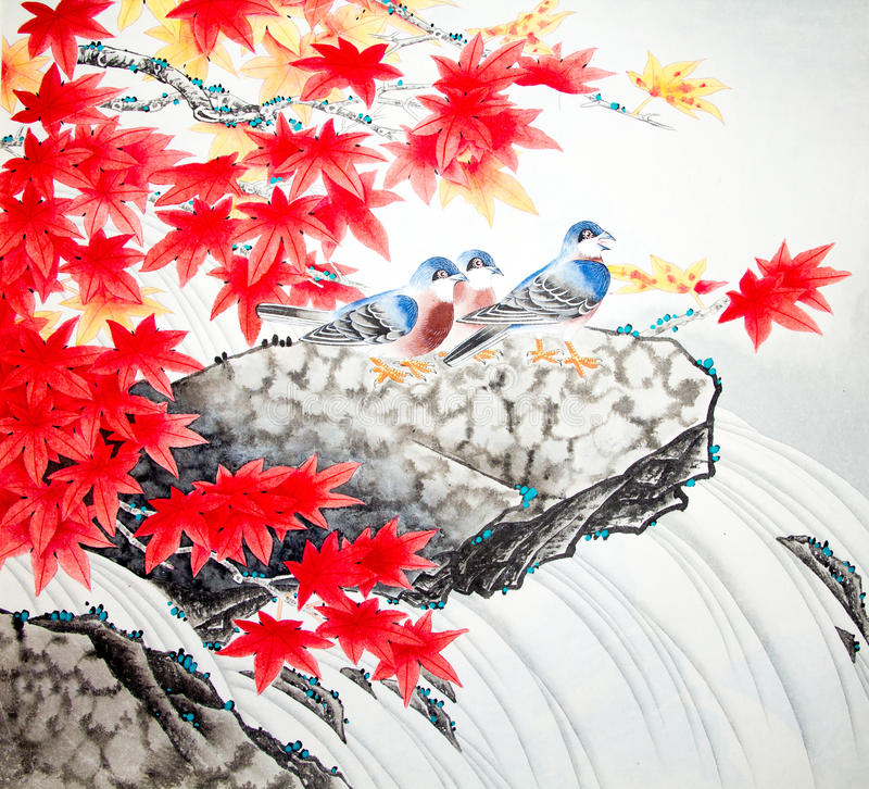 Peinture traditionnelle chinoise image libre de droits