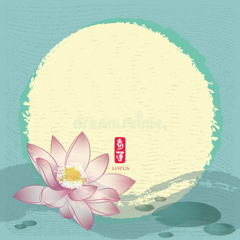 Peinture traditionnelle chinoise : Lotus illustration stock