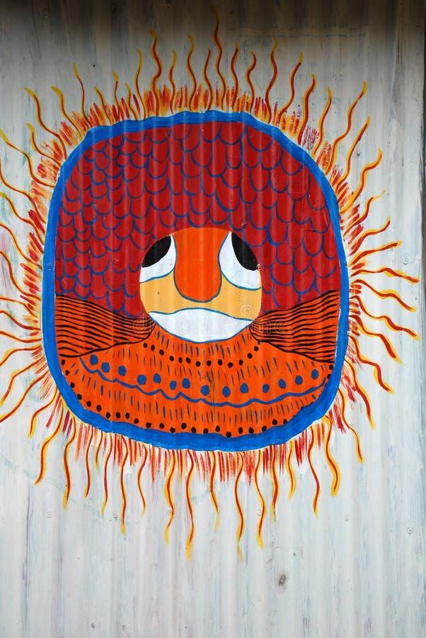 Peinture tribale abstraite photos libres de droits