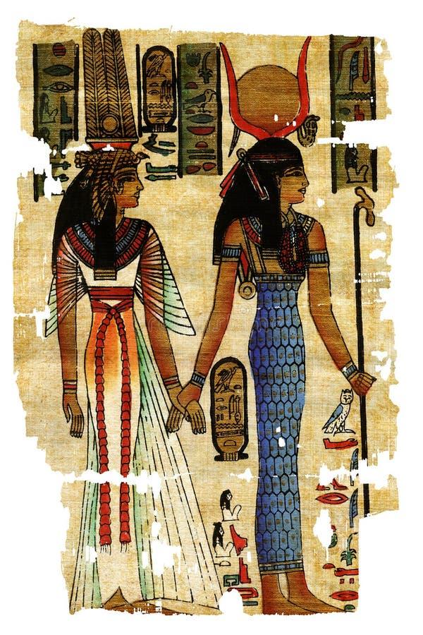 Peintures égyptiennes abstraites photo stock